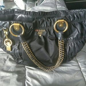 Prada handbag.with gold chain